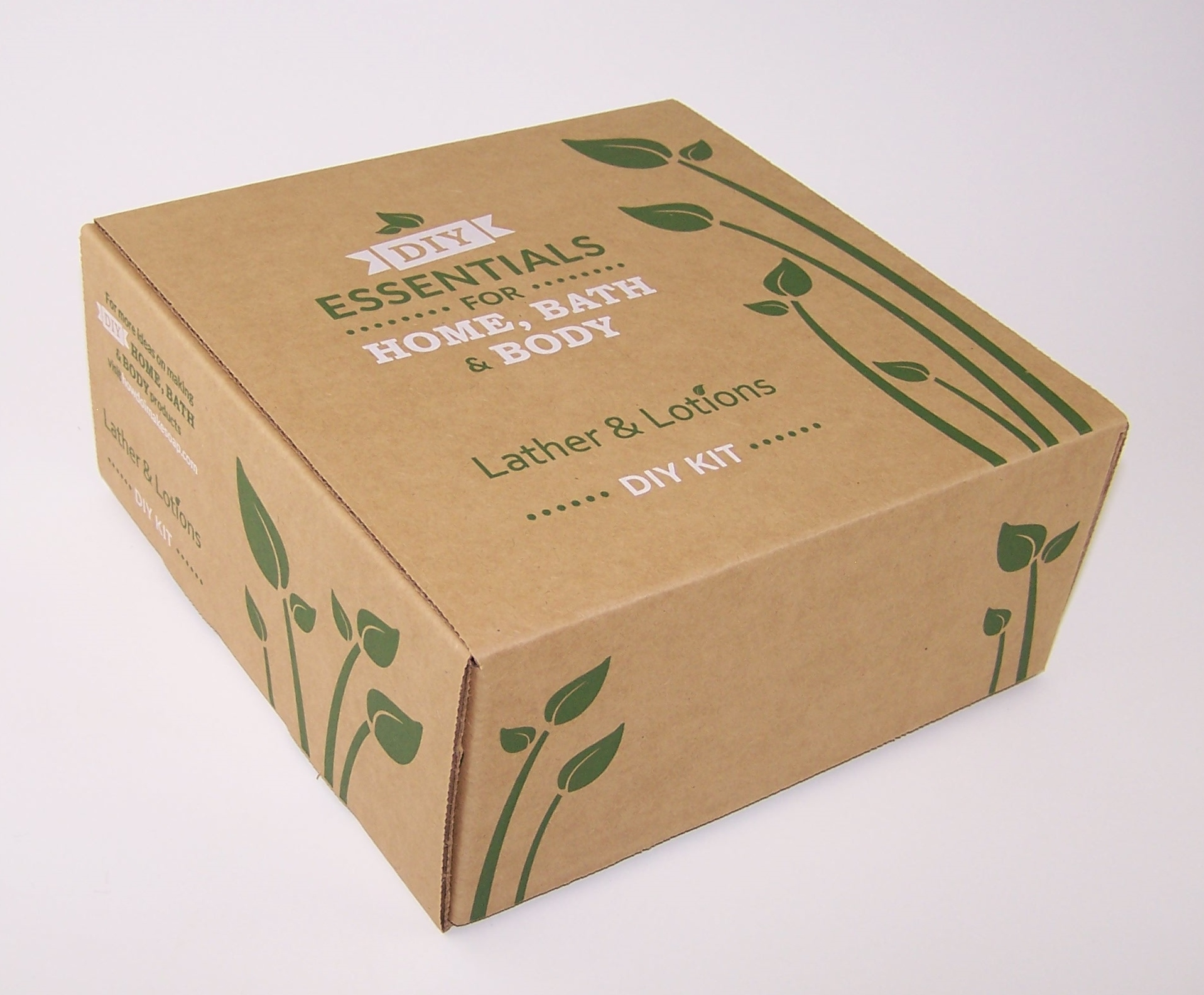 Hinged lid Corrugated Paper Box with kraft paper